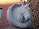 Skulptur Pferd - Relief Sandstein