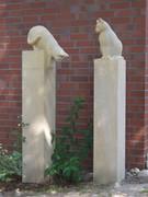 Sandstein für den Garten - Katzen