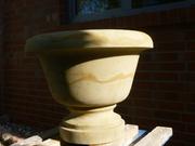 Sandstein für den Garten - Pflanzschale